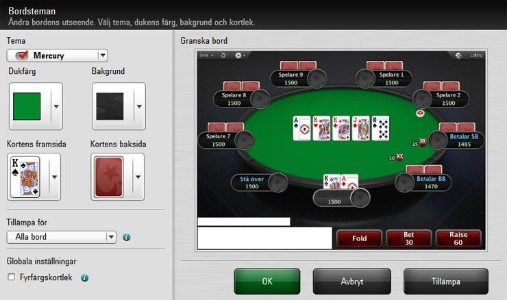 PokerStsrs bordsval
