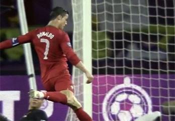 Ronaldo framför mål