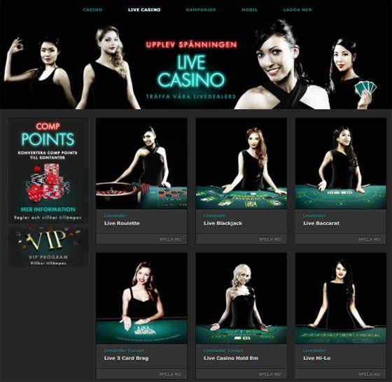 bet365 casino skärmbild