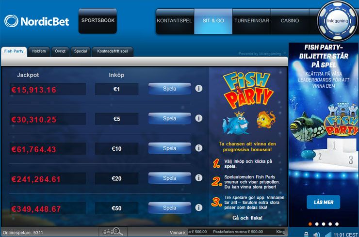 NordicBet pokerlobby