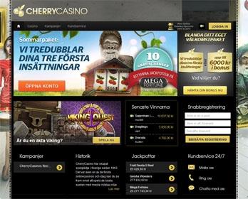 CherryCasino webbsida