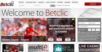 Betclic webbsida