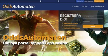 OddsAutomaten webbsida