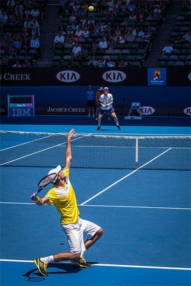 Spelare servar i tennis