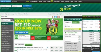 Paddy Power hemsida