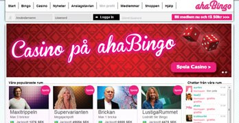 ahaBingo webbsida
