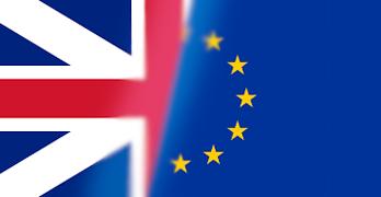 Flaggor Storbritannien och EU