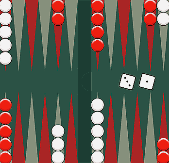 Backgammon spelplan