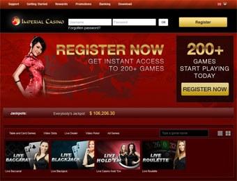 Imperial Casino webbsida