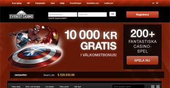 Everest Casino webbsida