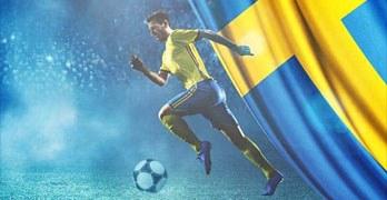 fotbollsspelare i blå-gult